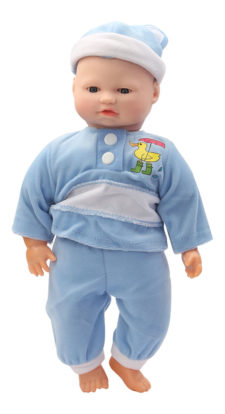 BiBi Battery Operated Baby Doll With Sound Blue