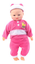 BiBi Battery Operated Baby Doll With Sound Pink