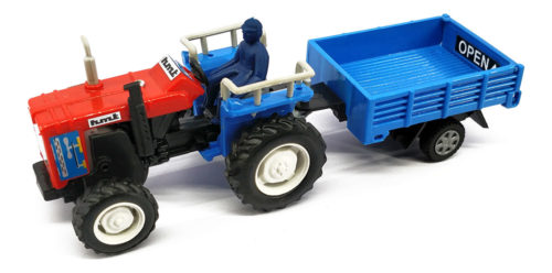Centy Tractor With Trolley Pullback (Sky Blue-Red)