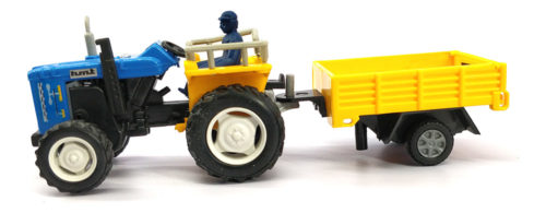 Centy Tractor With Trolley Pullback (Yellow-Sky Blue)