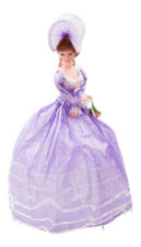 "Elegant Musical Umbrella Doll 24"" Purple"