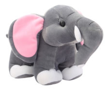 "Elephant Soft Toy 9"" Grey"