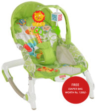 Fisher-Price Newborn To Toddler Rocker With Free Diaper Bag