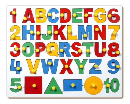 Little Genius English Alphabets With Numbers & Shapes AL-47