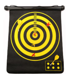 Magnetic Rolling Dart Board With 3 Darts Large
