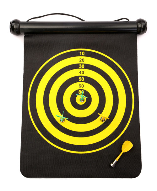Magnetic Rolling Dart Board With 3 Darts Small