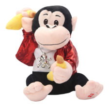 Musical Dancing Monkey Swag Soft Toy Black