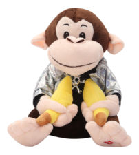 Musical Dancing Monkey Swag Soft Toy Brown
