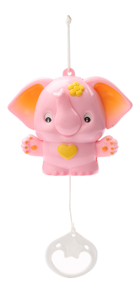 Musical Pulling Toy With Sweet Sound - Elephant - Pink