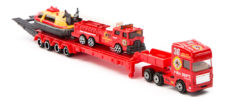 Pro Engine Tractor And Trailer Play Set With Hovercraft