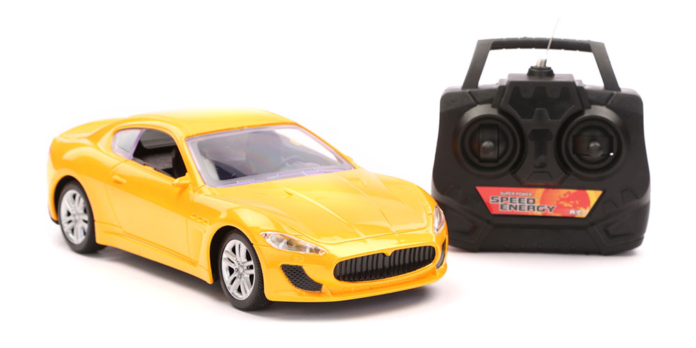 Buy R C Scenery Racing Car Chargeable Yellow Online In