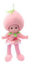 Soft Fruit Doll With Sound - Light Pink