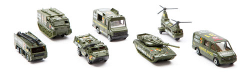 StreetMachine Scale Model Army Vehicles - Pack Of 7 Gift Set
