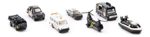 StreetMachine Scale Model Assorted Police Vehicles - Pack Of 7 Gift Set