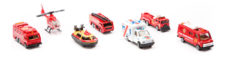 StreetMachine Scale Model Fire Department Vehicles - Pack Of 7  Gift Set