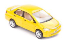 Centy Honda City Yellow Pullback Car