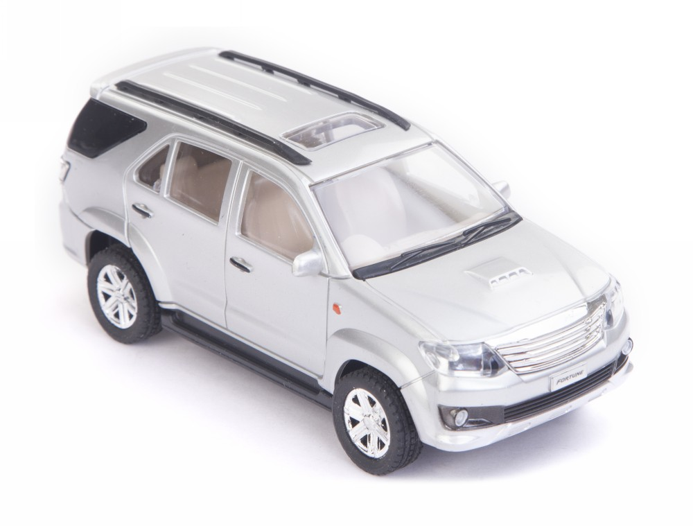 Buy Centy Toyota Fortuner Pullback Car Silver Online In India