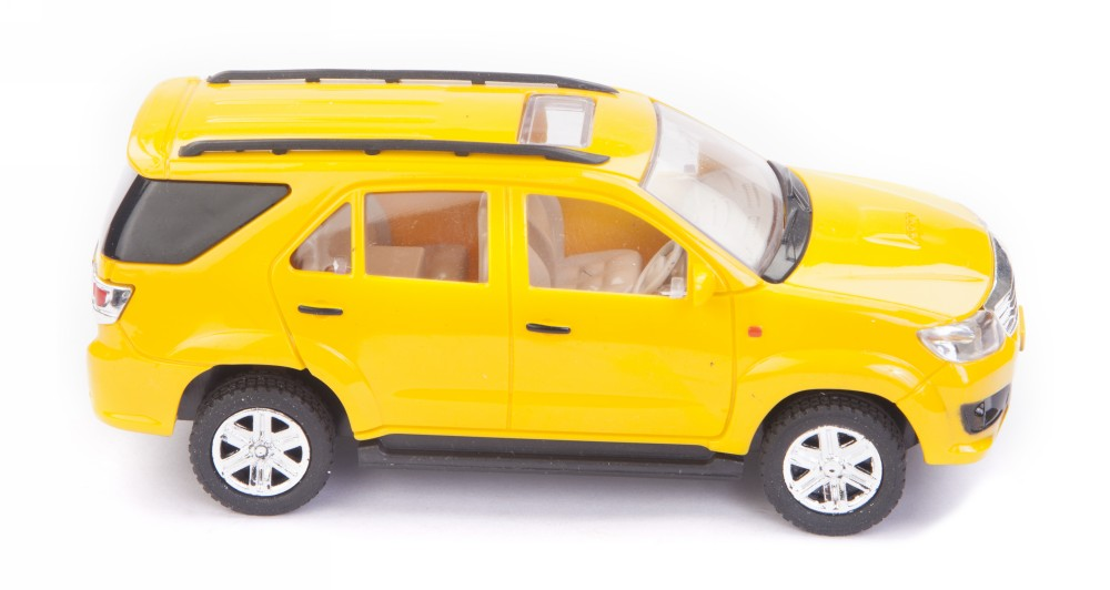 Buy Centy Toyota Fortuner Pullback Car Yellow Online In