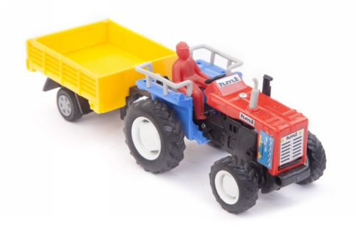 Centy Tractor With Trolly Red Yellow Pullback