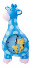 Giraffe Wall Clock Blue