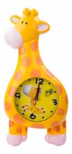 Giraffe Wall Clock Yellow