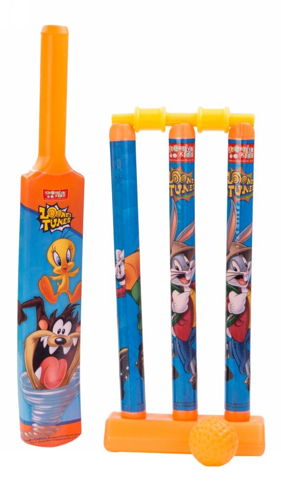 Buy Looney Tunes Plastic Cricket Set Small Orange