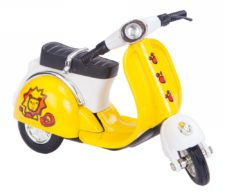 Pullback Scooter Yellow