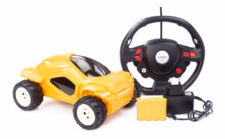 Bounce Car With Steering Wheel Yellow