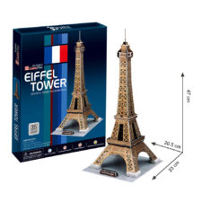 Cubic Eiffel Tower 35 Pcs 3D Puzzle