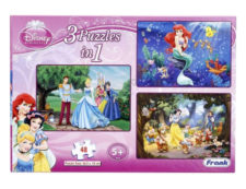 Frank Disney's Princess 3-In-1 Jigsaw Puzzle