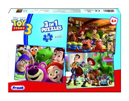 Frank Toy Story-3 3-In-1 Jigsaw Puzzle