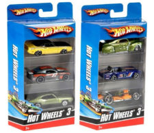 Hot Wheels 3 Car Pack K5904 (Design May Vary)
