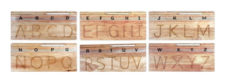 Little Genius Carving English Alphabet Uppercase ME-26