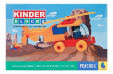 Peacock Kinder Block Aero Plane And Helicopter Set