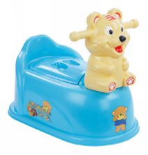 Baby CloseStool Potty With Handle - Lovely Tiger