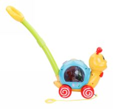 Musical Snail Push & Pulling Toy