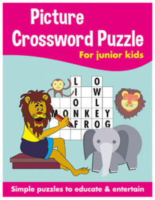 Picture Crossword Puzzles For Kids Pink