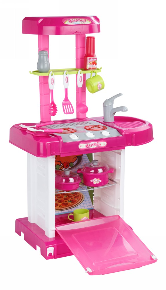 Buy Plastic Kitchen Set With Lights Music Online In India Kheliya Toys
