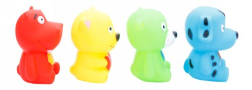 Colourful Squeeze Toys - Animals 4 Pcs