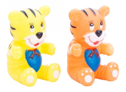 Squeeze Toys Tiger - Yellow & Orange
