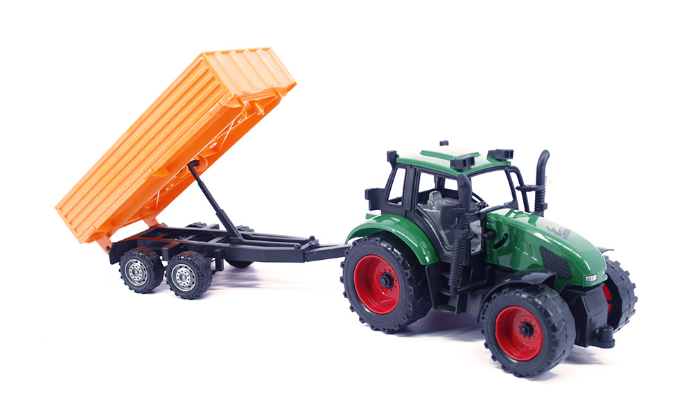 Buy Farm Tractor With Trolley Green Online In India