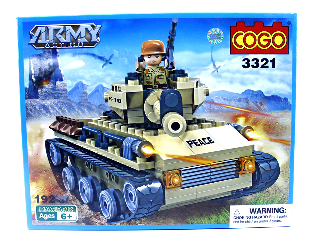Buy Cogo Army Action Blocks 3321 192 Pcs Online In India
