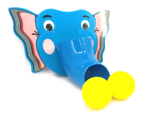 Ball Throwing Game (Elephant - Blue)