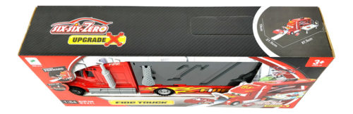 Fire Truck Set With Cars & Helicopter 1:64