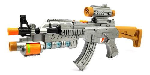 Electric Army Toy Gun With Sound, Lights & Projector