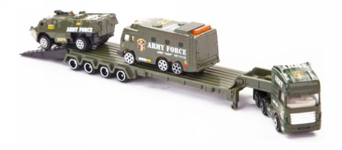 StreetMachine Army Ambulance, Armored Carrier & Army Trailer Set