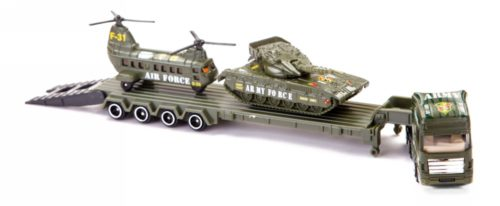 StreetMachine Army Helicopter, Army Tank & Army Trailer Set