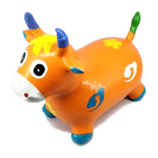 Inflatable Hopping Cow Orange 30793