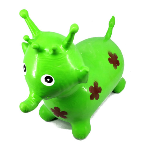 Inflatable Hopping Elephant Green 30789
