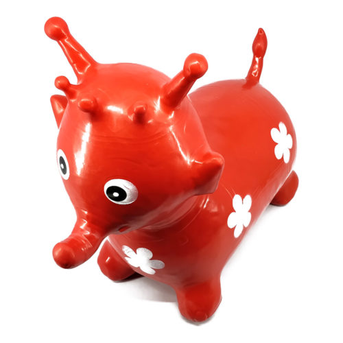 Inflatable Hopping Elephant Red 30789
